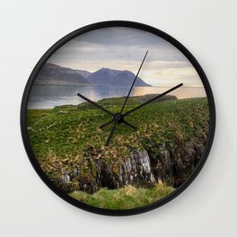Landscape in Eastern Iceland Wall Clock