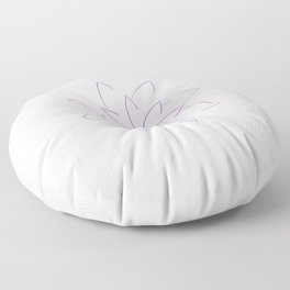 Ombre Lotus Outline Floor Pillow