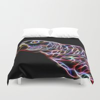 parrot Duvet Covers featuring Parrot by Moonlake Designs