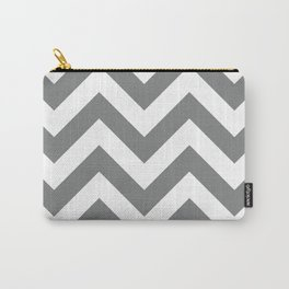 Large chevron pattern / gray Carry-All Pouch