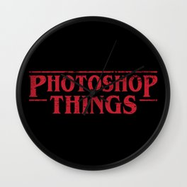 Photoshop Things Wall Clock