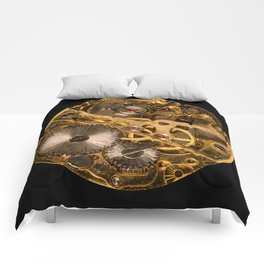 Time is passing by - antique watch Comforters
