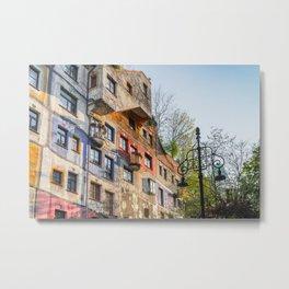 Hundertwasserhaus Vienna Austria Metal Print