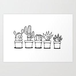 The Succulents Art Print