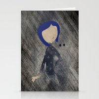 coraline Stationery Cards featuring Coraline Minimalist by Violet Tobacco