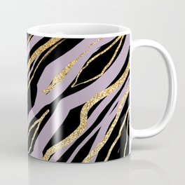 Lavender Black and Gold Marble Coffee Mug