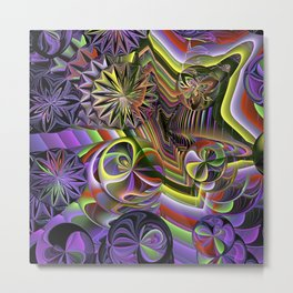 Mind-blowing, colourful fractal abstract Metal Print