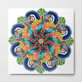 tropic crazyness mandala Metal Print