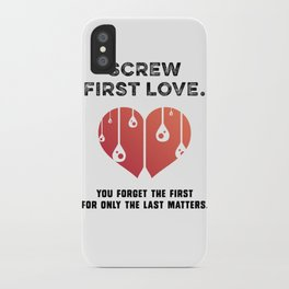 First Love [BLACK] iPhone Case