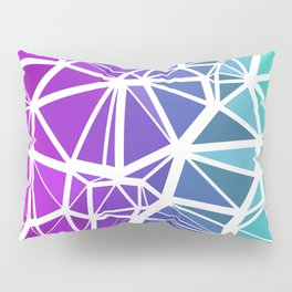 Low Poly Jewel Tones Gradient Pillow Sham