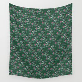 Succulent Hues, Floral Pattern Wall Tapestry