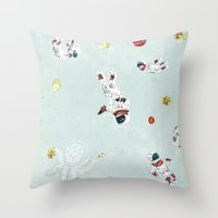 outer space Throw Pillows featuring Outer Space by Max Grünfeld