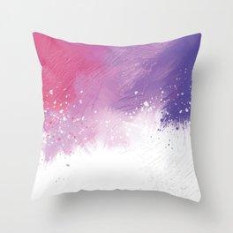 Paint Brushing Throw Pillow