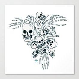 Bones (Wonderful Mess Series) Canvas Print