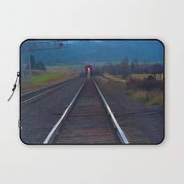 Wrong Side of the Track - Oncoming Train Laptop Sleeve