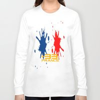 code Long Sleeve T-shirts featuring France Code by Maxvtis