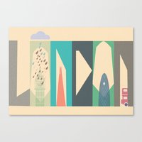 london Canvas Prints featuring London by Oh! My darlink