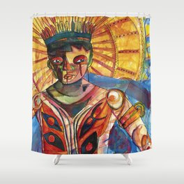 my forgotten culture - indigenous Shower Curtain