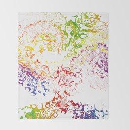Rainbow Spurt 01 Throw Blanket