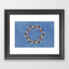 Sock Monkey Water Ballet Horizontal Framed Art Print