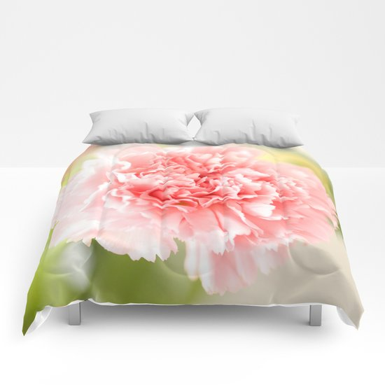 Pink Carnation Admiration  Comforters