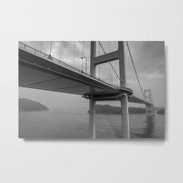Long Dark Bridge Metal Print