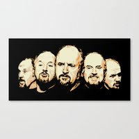 louis ck Canvas Prints featuring The Faces of Louis CK by The GRYLLUS