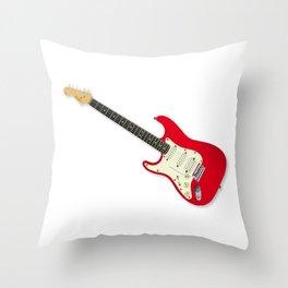 Left Handed Guitar Throw Pillow