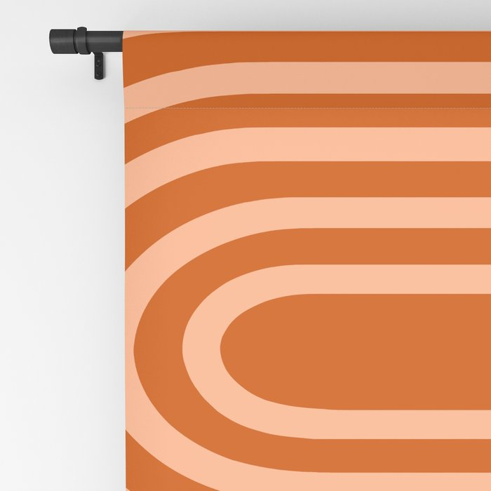 Terracotta Rainbow Blackout Curtain