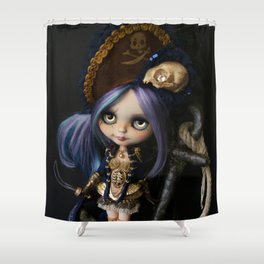 LADY BUCCANEER PIRATE OOAK BLYTHE ART DOLL Shower Curtain