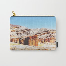 sand desert with orange mountain in California, USA with summer blue sky Carry-All Pouch