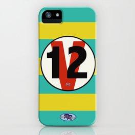 SRC Preparations Racecar Rebels: V12 British iPhone Case