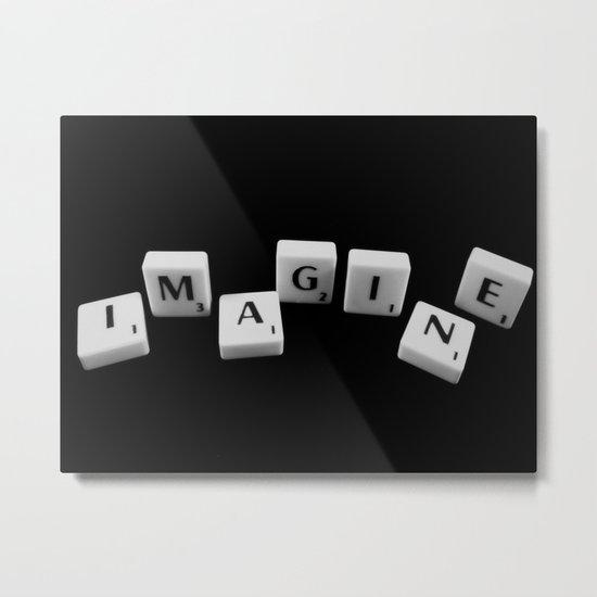 IMAGINE [scrabble] Metal Print