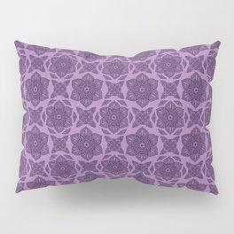 Floral Lotus Mandala Purple Pillow Sham