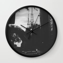 Paulista Avenue B/W Wall Clock