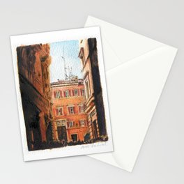 Italy in Yellow Stationery Cards