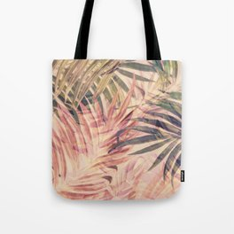 Palm Leaves in pink Tote Bag