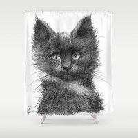 Black Kitten SK135 Shower Curtain