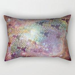 Valknut Galaxy Pattern Rectangular Pillow