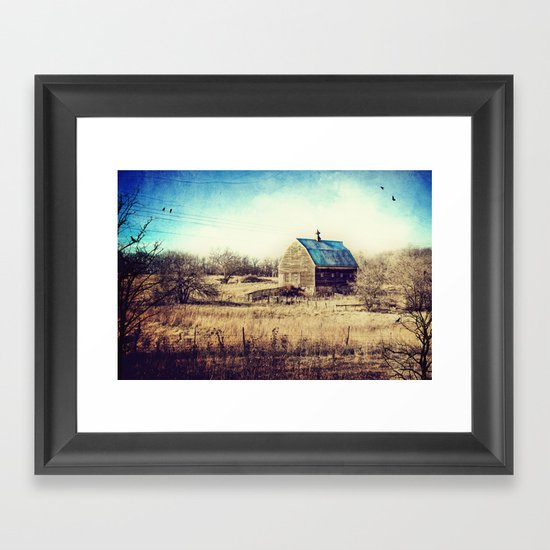 Interlude in Blue Framed Art Print