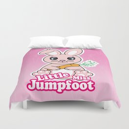 Little Miss Jumpfoot Duvet Cover