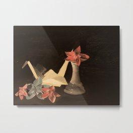 Origami Still Life Metal Print