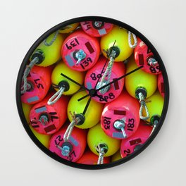 Floats By The Sea Wall Clock
