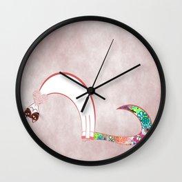 Moon Love Cat Illustration Wall Clock