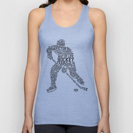 Hockey Words Unisex Tank Top