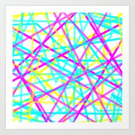 Abstract Lines CYM Art Print