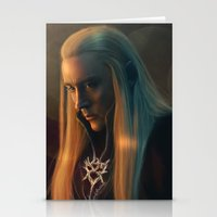 thranduil Stationery Cards featuring Thranduil by LindaMarieAnson