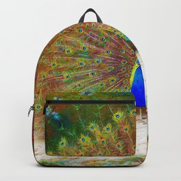 Archibald Thorburn - Peacock and Peacock Butterfly - Digital Remastered Edition Backpack