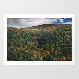 Kaaterskill Falls with Sky Art Print