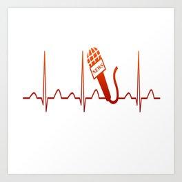 NEWSCASTER HEARTBEAT Art Print